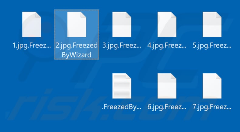 Files encrypted by FreezedByWizard