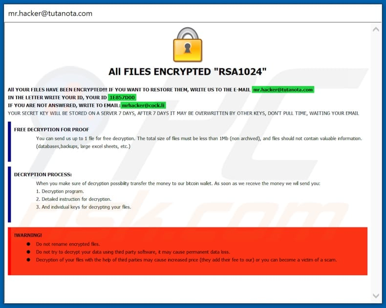 How to remove HACK Ransomware - virus removal steps (updated)