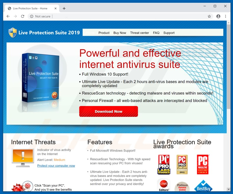 live protection suite website