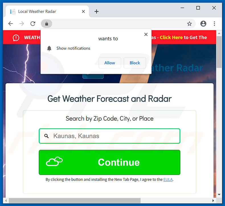 How to get rid of Local Weather Radar Browser Hijacker