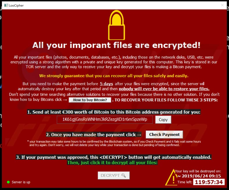 How to remove LooCipher Ransomware - virus removal steps