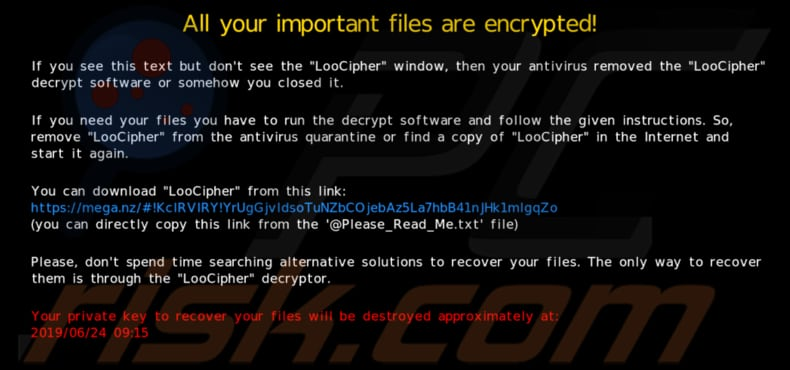 How to remove LooCipher Ransomware - virus removal steps (updated)