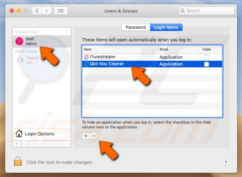 Qbit Mac Cleaner PUA system preferences