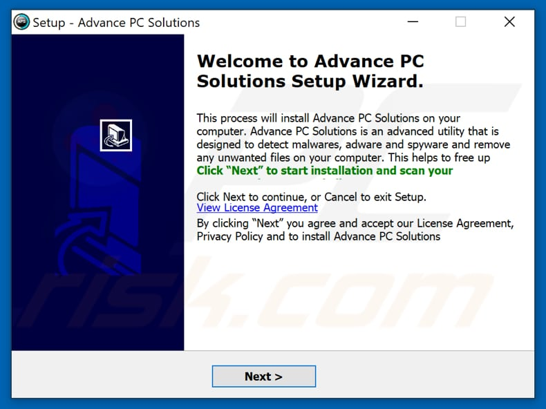 Advance PC Solutions installation setup