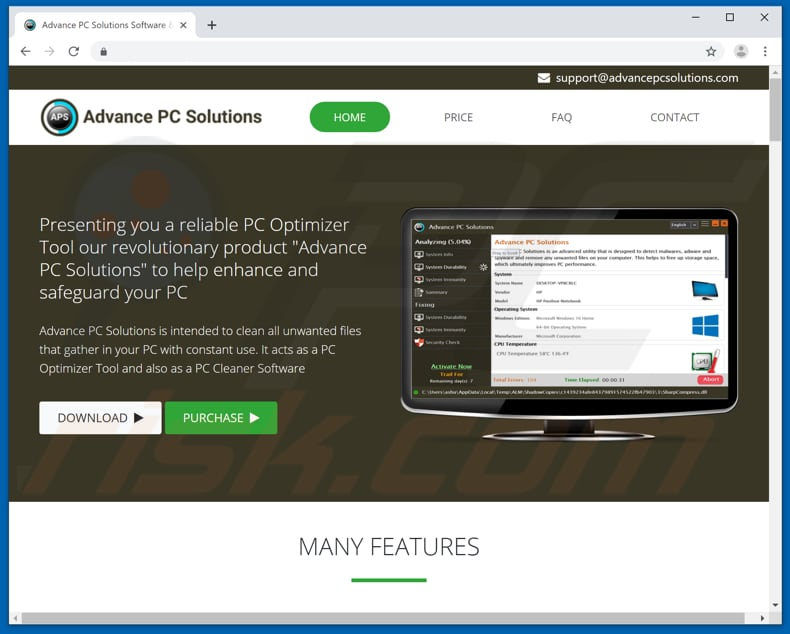Advance PC Solutions download page