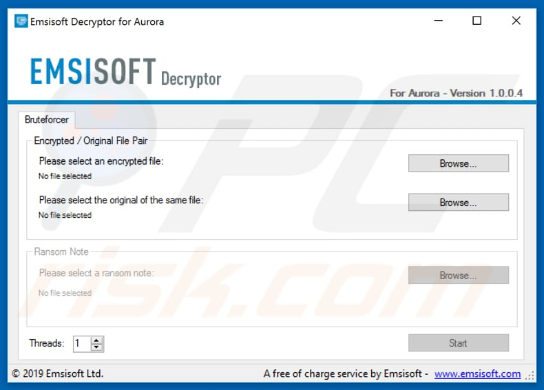 dragon free decrypter by emsisoft
