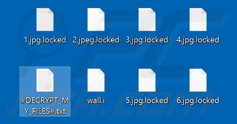 Files encrypted by Dragon