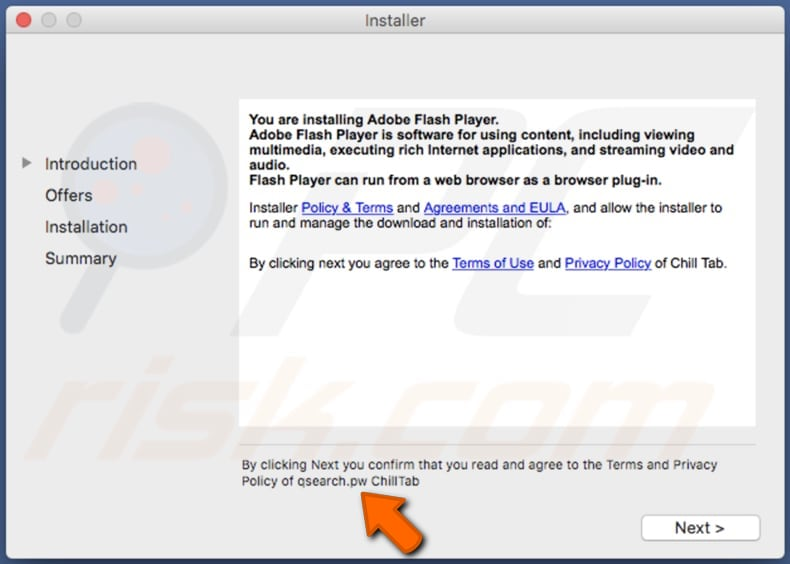 Delusive installer used to promote Epsilon