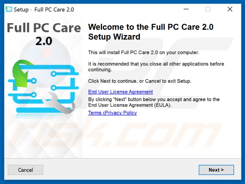 Full PC Care 2.0 installation setup