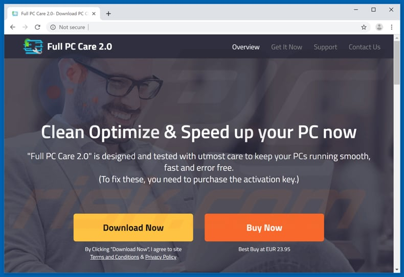 Full PC Care 2.0 download page