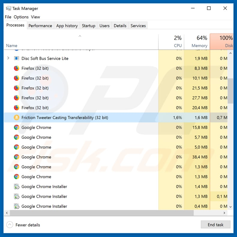 GermanWiper process in Task Manager