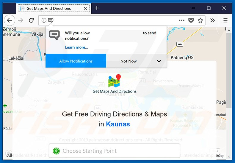 How to get rid of Get Maps And Directions Browser Hijacker - virus Map Driving Directions Websites on