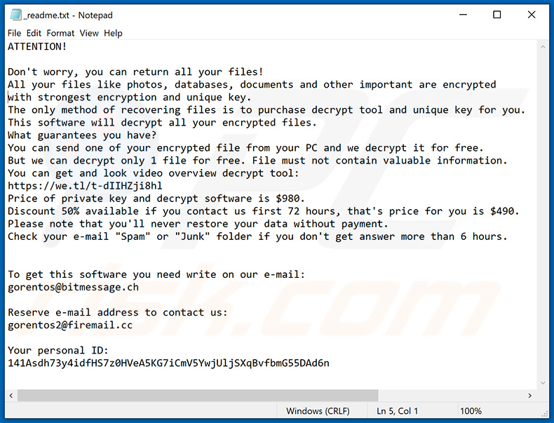 How to remove Londec Ransomware - virus removal steps