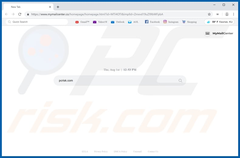 mymailcenter.co browser hijacker