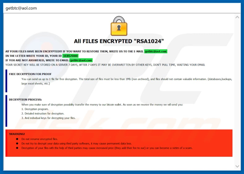 How to remove Q1G Ransomware - virus removal steps