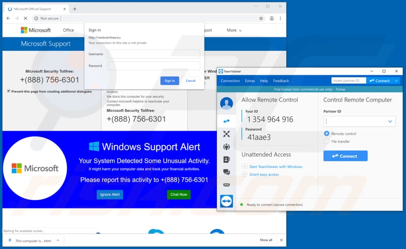 How to remove TeamViewer Tech Support Scam - virus removal guide