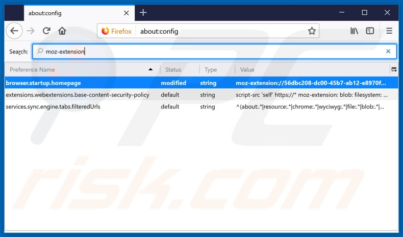 Removing search.htrackyourtransitinfo.com from Mozilla Firefox default search engine