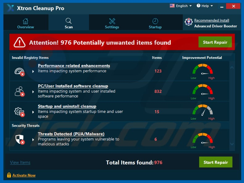 Xtron Cleanup Pro unwanted application