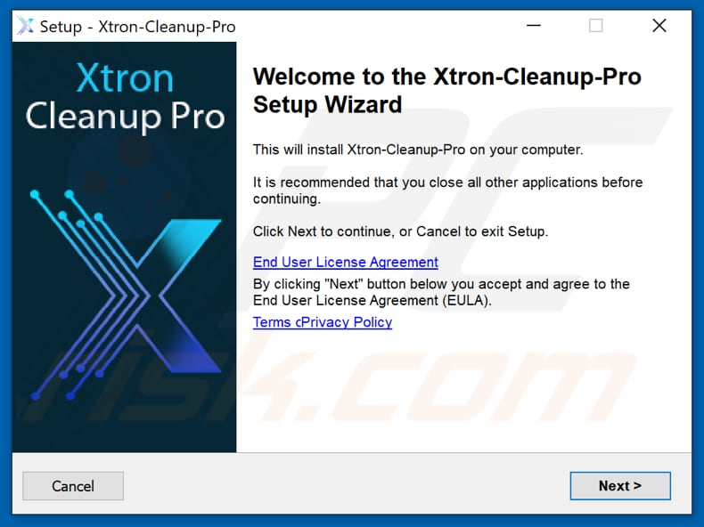 Xtron Cleanup Pro installation setup