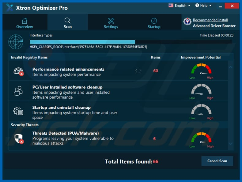 Xtron Optimizer Pro unwanted application