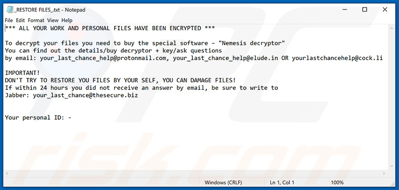 YOUR_LAST_CHANCE decrypt instructions