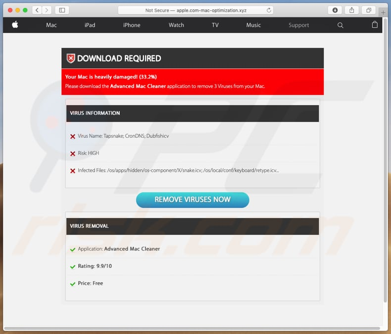 How to get rid of Apple com-mac-optimization xyz POP-UP Scam
