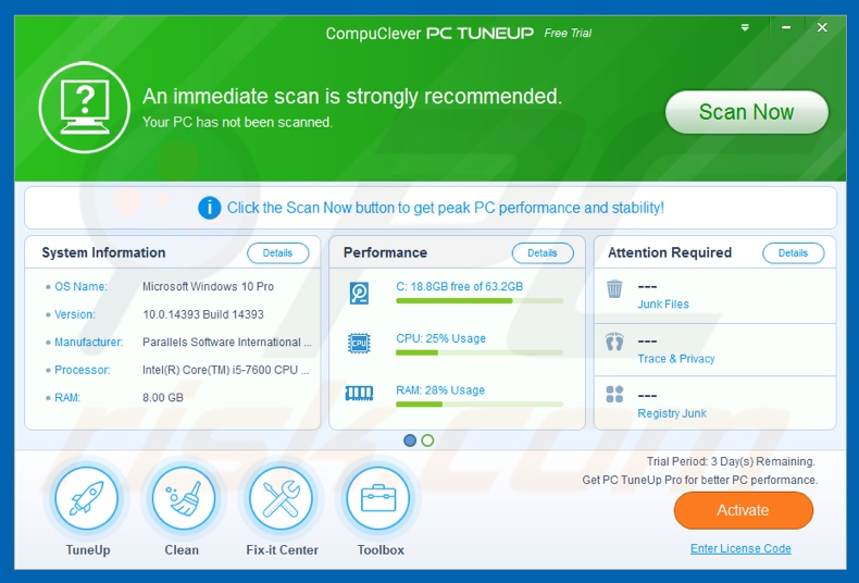 CompuClever PC TuneUp unwanted application