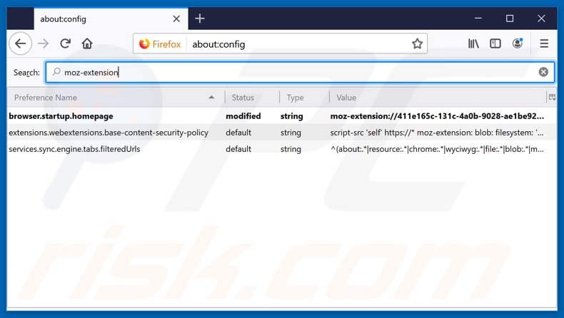 Removing search.currentandbreakingnewstab.com from Mozilla Firefox default search engine