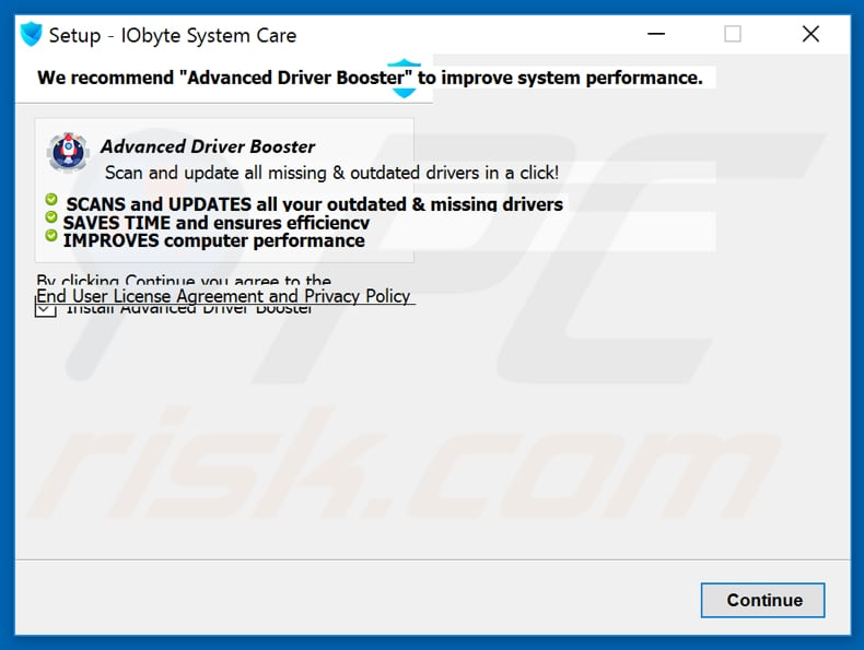 IOByte System Care bundling Advanced Driver Booster