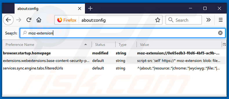 Removing search.mapsutilitytab.com from Mozilla Firefox default search engine