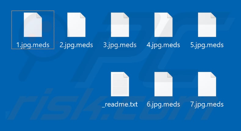 Files encrypted by Meds