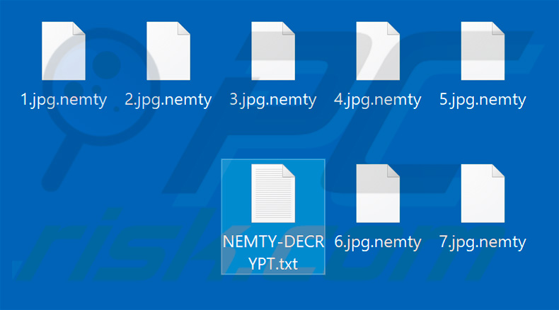 Files encrypted by NEMTY PROJECT
