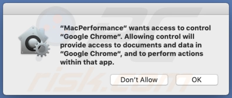 MacPerformance asking for permissions