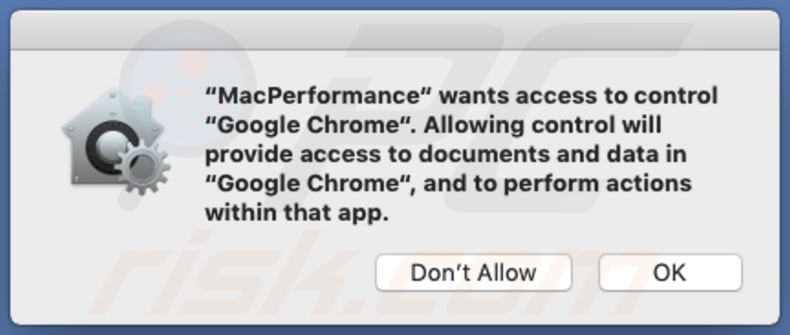 mac performance asking for permission to access browser data