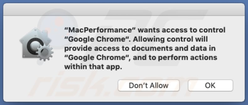 MacPerformance asking for various permissions
