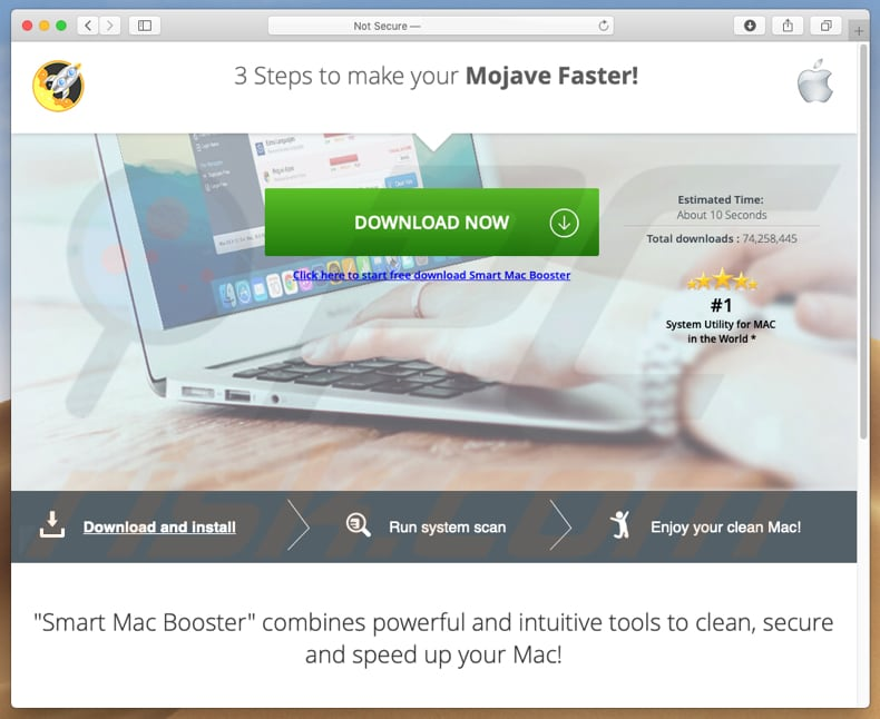 Smart Mac Booster download web page