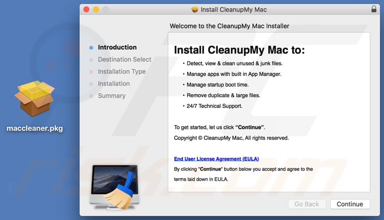 Cleanup My Mac installer
