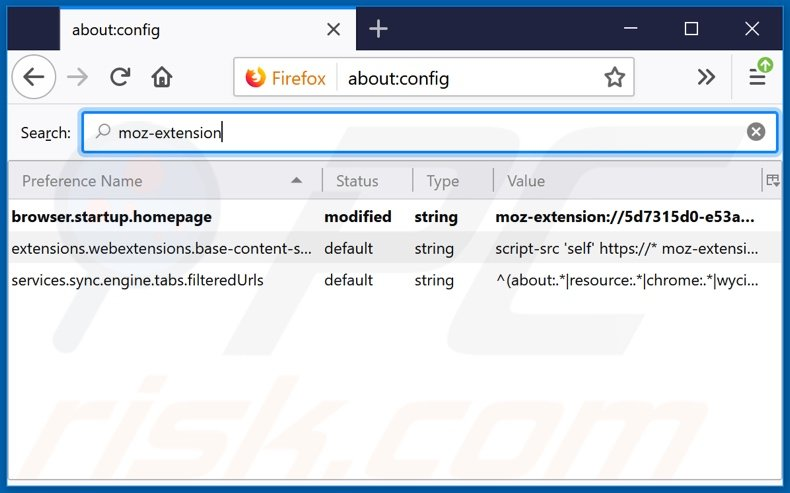 Removing search.hclassifiedslist1.com from Mozilla Firefox default search engine