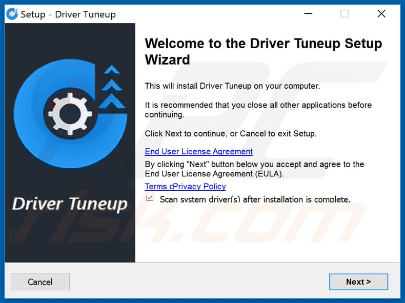 Driver Tuneup installation setup