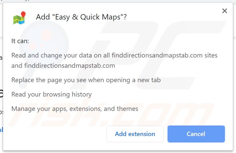 Easy & Quick Maps asking for permissions