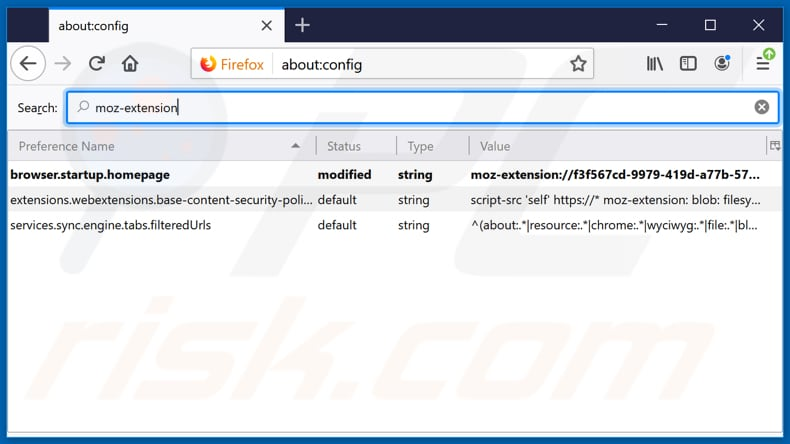 Removing hp.heasyclassifieds.co from Mozilla Firefox default search engine
