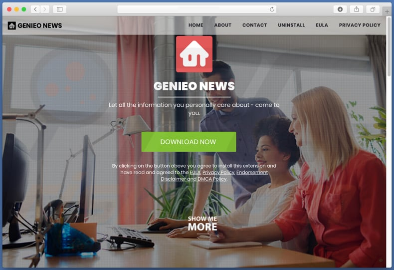 Dubious website used to promote genieonews.com