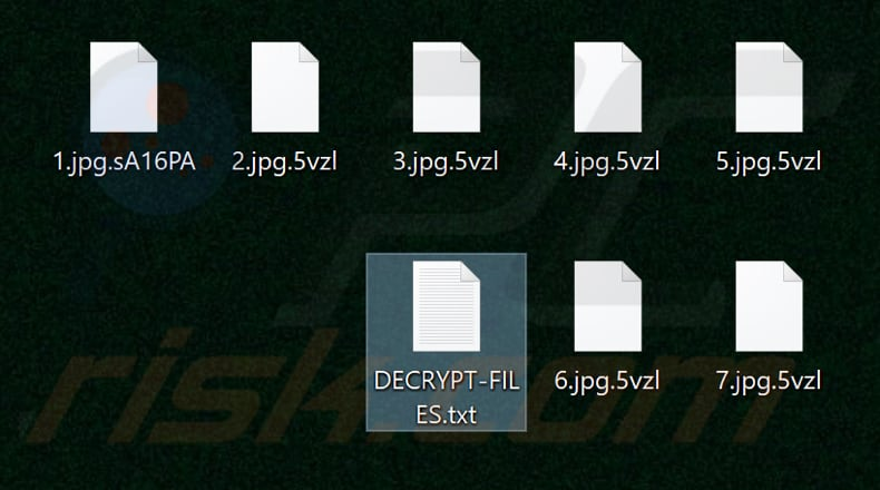 Files encrypted by Maze