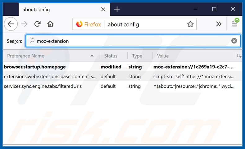 Removing search.viewfreerecipestab.com from Mozilla Firefox default search engine
