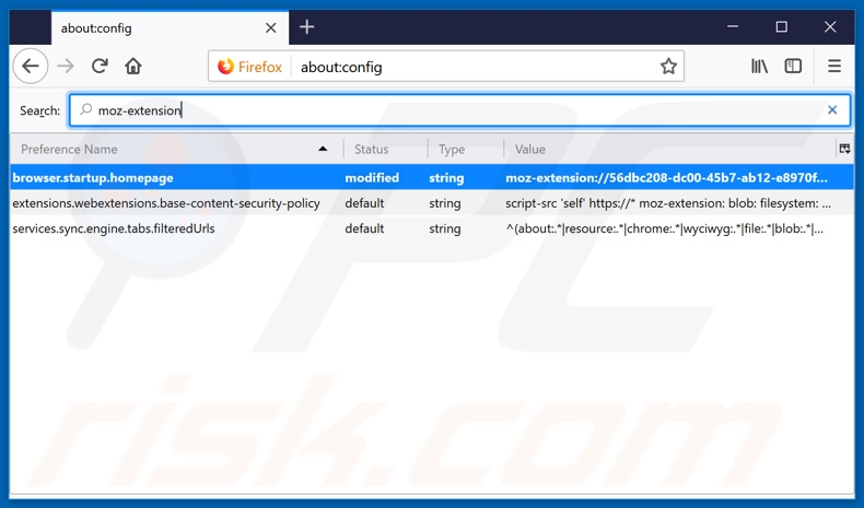 Removing search.parcelfindertab.com from Mozilla Firefox default search engine