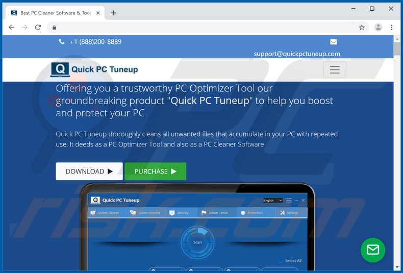 Quick PC Tuneup application