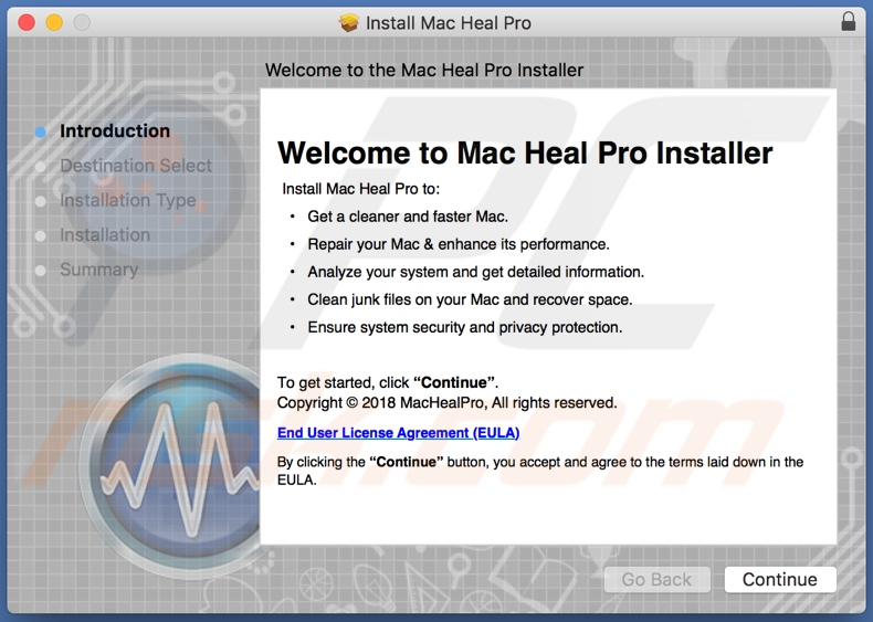 Mac Heal Pro app installer