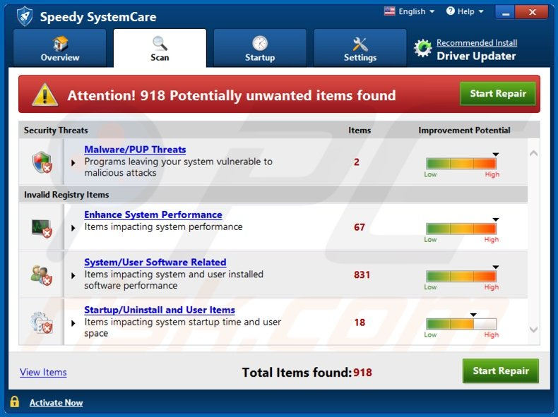 Speedy SystemCare unwanted application