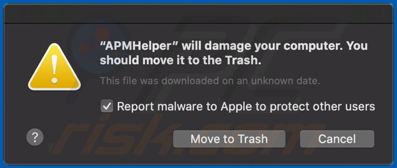 * will damage your computer. You should move it to the Trash. scam