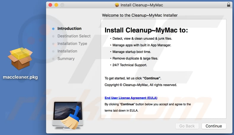 Cleanup My Mac installation setup